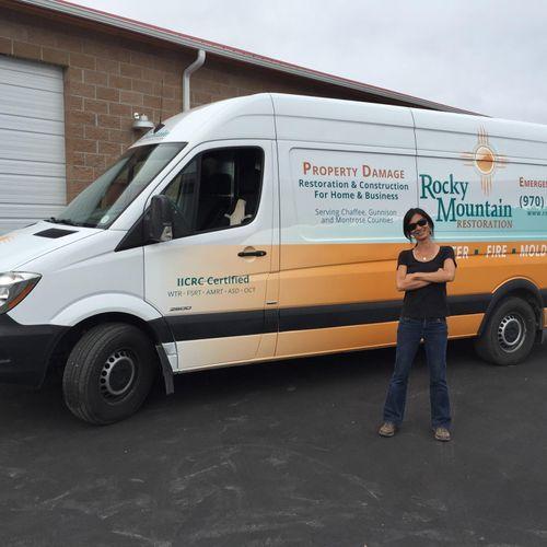 Van wrap, Rocky Mountain Restoration LLC