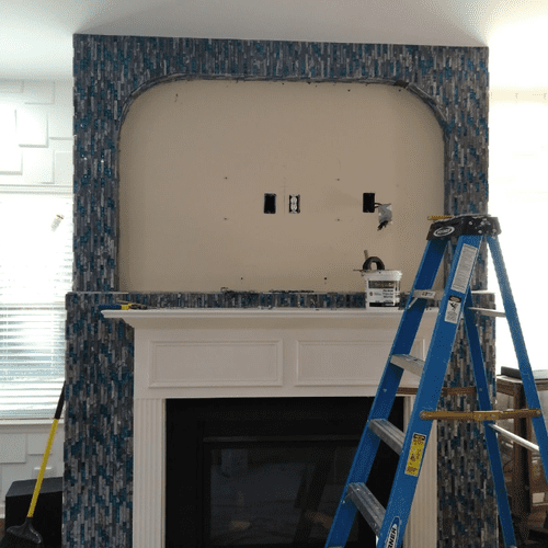 Tile Installation to Firewall.