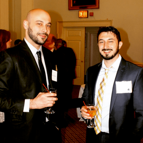 From of SmartNet Solutions' partners Michael Krisher (left) & Joe Jensen (right) at a client fundraising event.