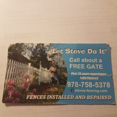 "Avatar for ""Let Steve Do It"" Fences Installed and Repaired Lowell, MA Thumbtack"