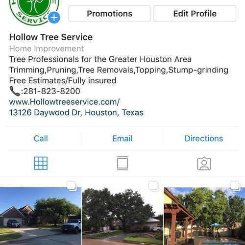 Follow us on Instagram! @Hollowtreeservice!