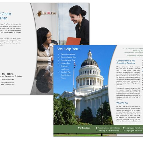 Four page bochure for HR company with Logo Design