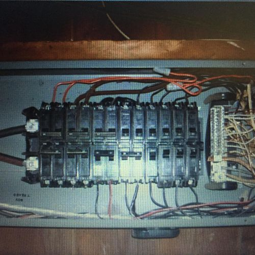 This is a messing circuit breaker panel