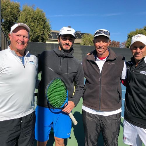 During USPTA's conference with Mike VanZutphen (Master Professional) at SeaCliff Country Club.