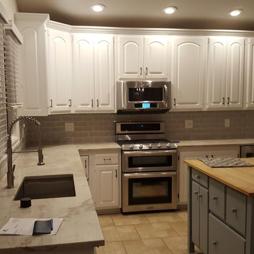 AFTER. Alexandria,  VA.  Kitchen cabinets project.