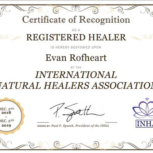 Registered Healer