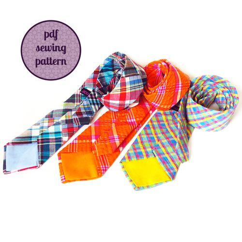 necktie sewing pattern