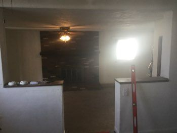 STRUCTURAL INSPECTIONS: Garage conversion: removed load bearing wall causing sag in ceiling