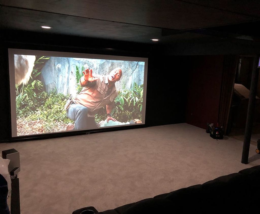 Projector and screen installation