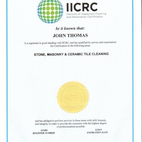Floor Cleaning Certification