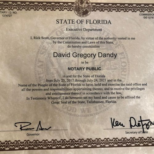 Notary license