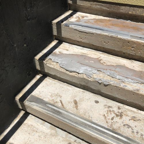 Poor Concrete Stairs with Epoxy Filler /Adhesive
