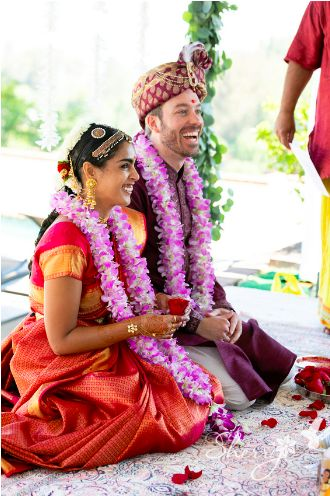 Nisha and Aaron's South Indian Ceremony and Modern Art Wedding