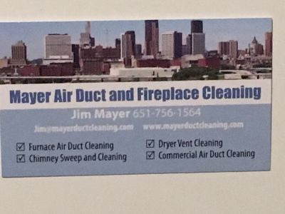 Avatar for Mayer  air duct and Fireplace cleaning Saint Paul, MN Thumbtack