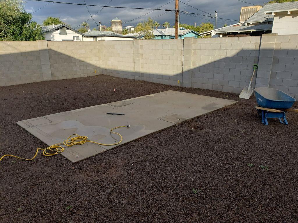 Concrete Pad Removal 180 sq ft