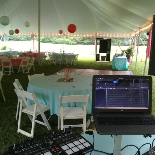 Wedding Reception at home - York, PA #everycoupleiplayedforarestilltogether