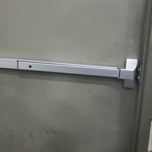 Installation of Push Bar