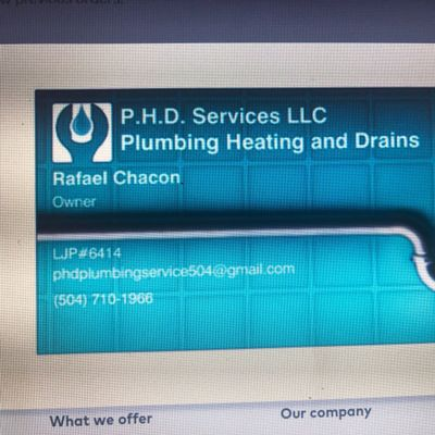 Avatar for P.H.D Plumbing Service llc Metairie, LA Thumbtack