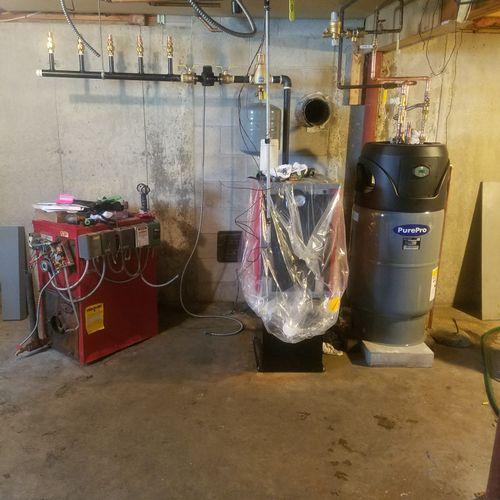 Installation - oil fired boiler