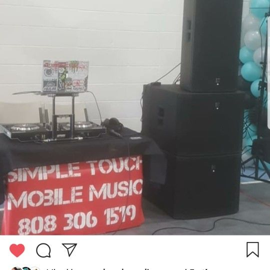 Simple touch mobile DJ services