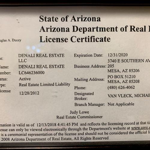 Denali Real Estate License
