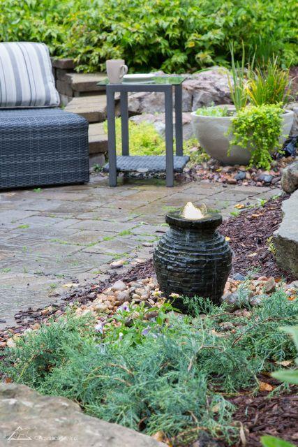 Mini Stacked Slate Urn Fountain