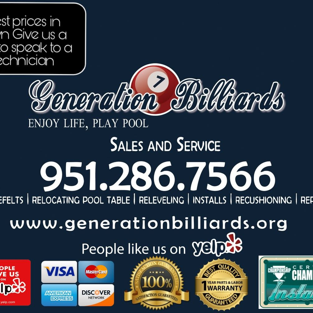 Generation Billiards pool table movers