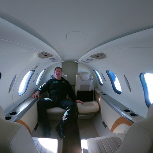 Dave's office for today - the HondaJet