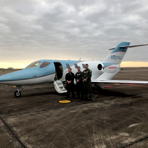 Dave and the two flight crew from the USCG with the HondaJet