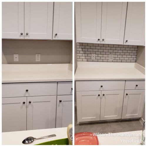 Kitchen Backsplash - 2x4 subway tiles