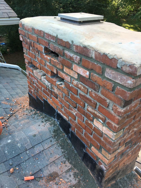 Spalling brick repair