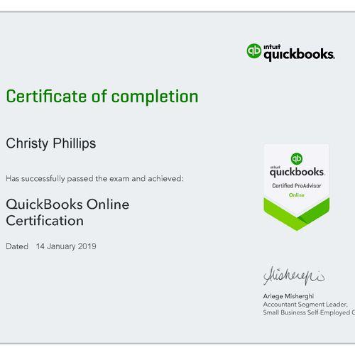 Quick Books Certification