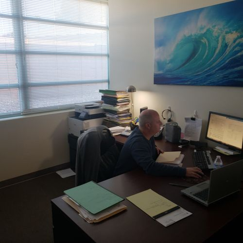 Enrolled Agent Jim Hack Working on Taxes