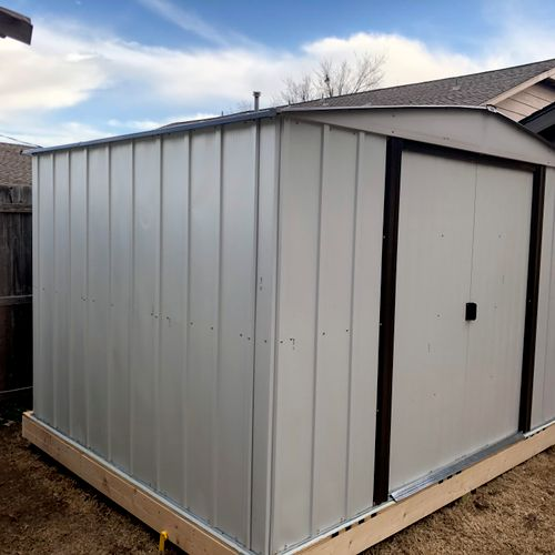 Storage shed assemble
