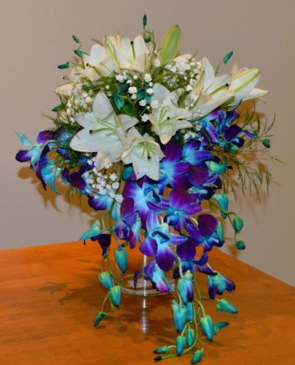 Dendrobian Orchid Heaven - Teal, Blue, & Purple
