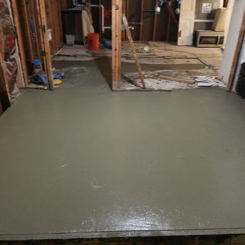 New concrete for laundry room addition.
