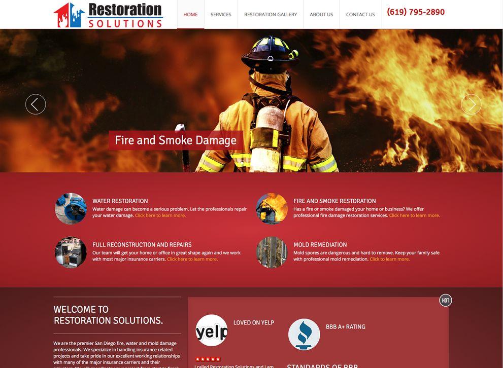 Restoration Solutions Website Redesign