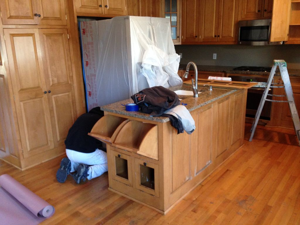 Kitchen cabinets painting in Boston