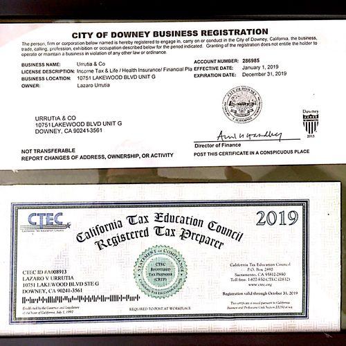 Business License / CTEC  License