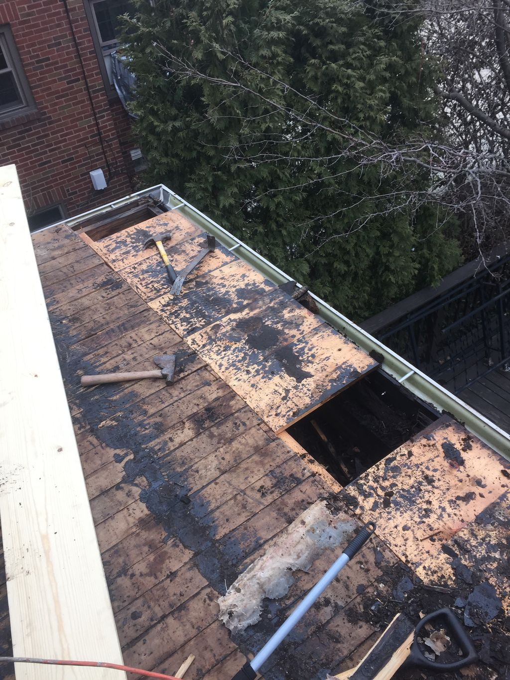 Small porch -flat roof