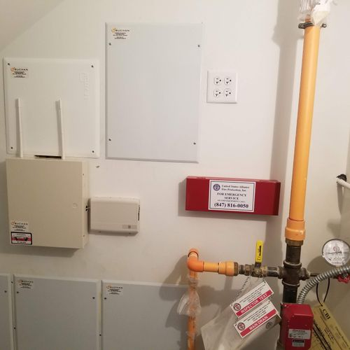 Finished wiring in large home utility closet