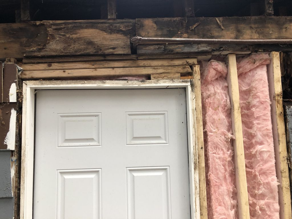 Removed door and repaired framing