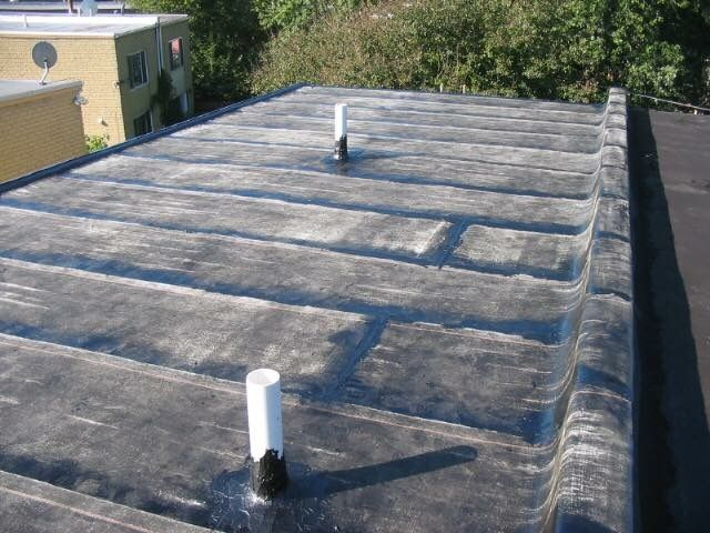 Torch down rubber roof