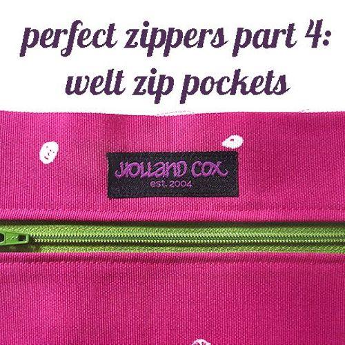 welt zipper tutorial