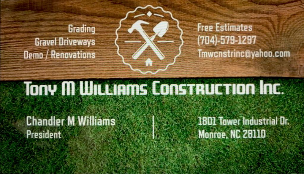 Tony M Williams Construction Inc.