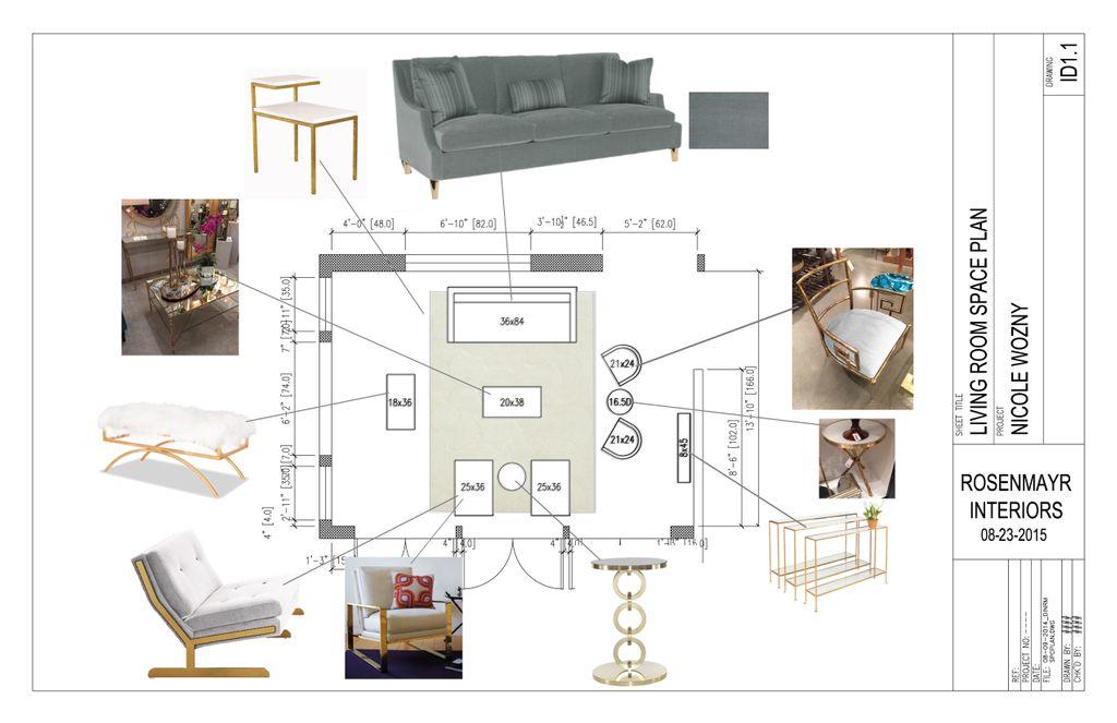 Living room turn Hollywood Glam