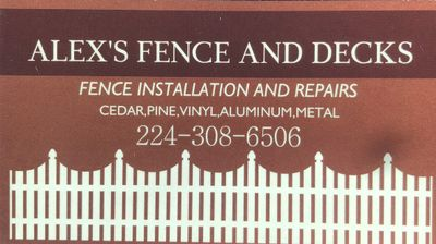 Avatar for Alex's Fence and decks llc Mchenry, IL Thumbtack