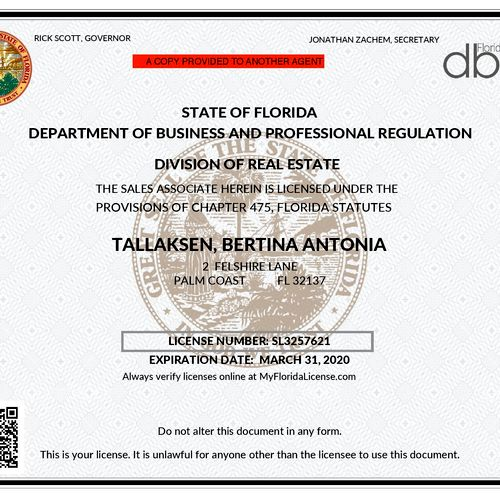 Florida Real Estate License