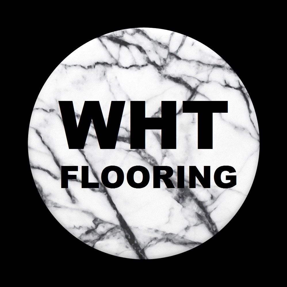 White Hardwood & Tile Flooring
