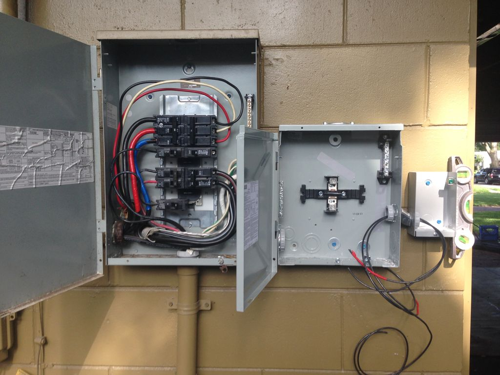 Garage and transfer switch
